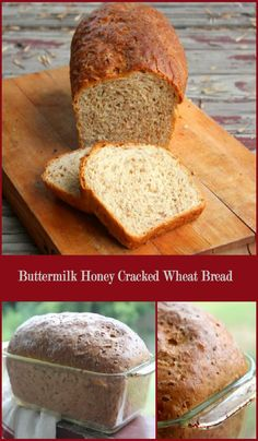 Buttermilk Honey Cracked Wheat Bread is nutty and slightly sweet with a light…