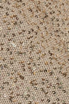 Taupe silk-blend Slips on silk, polyester Dry clean Gold Sequins, Cashmere Cardigan, Aquazzura, Footwear, Texture, Colour, Silk, Oscar De La Renta, Surface Finish