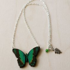 Handmade Gifts | Independent Design | Vintage Goods Lovely Butterfly Necklace - Radiant Swallowtail