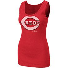 Cincinnati Reds Women's Must Win Tank by Majestic Athletic