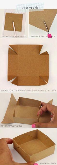 Montar cajita de cartón