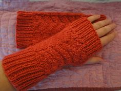 Ruby Knits: Fingerless Mittens Pattern