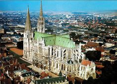 Chartres Cathedral Chartes France (Known for its stained glass)