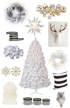 A White, Black and Gold Christmas! #EbayCollections #FollowitFindit #ad