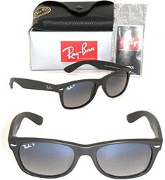 Ray-Ban New Wayfarer RB 2132 601S/78 52MM Matte Black / Blue Grey Gradient Polarized. 100% Authentic and brand new. Package contains: RB 2132 601S/78 52MM Ray-Ban Original Box, Case, Cleaning Cloth, Ban Literature. New in the original packaging Gender: Unisex Protection: 100% UVA & UVB Lens Technology: Polarized Style: New Wayfarer Made: in Italy MATTE BLACK front color family: black lenses material: crystal lenses : polarized lenses color: polar blue grad. grey Retail: $190.00 Size: 52mm...