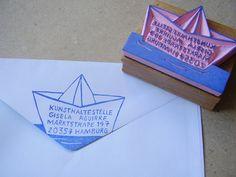Stempel Adresse Boot -von alinea.