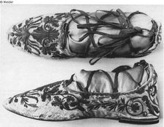 Shoes Emperor Napoleon I for the coronation in 1804 (State Art Collections, Dresden, Germany)