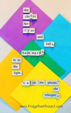 The Daily Magnet #271 Magnetic Poetry; Demagnetize Writer's Block! www.FridgePoetProject.com #writerslife