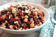 Make this healthy bean salad a few days in advance for a yummy picnic side that everyone will love!