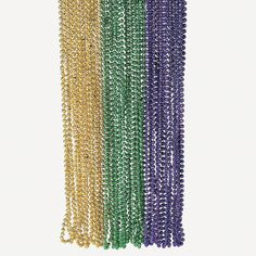Faceted Mardi Gras Party Beads - OrientalTrading.com