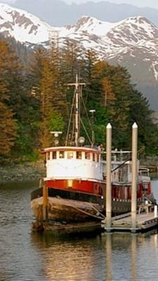 Tugboat Challenger, a 96' TP Class tugboat, is currently being refurbished in Juneau, Alaska.