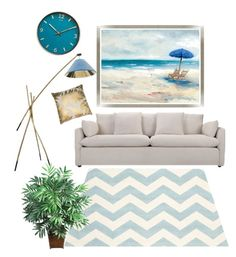 """""""Untitled #188"""" by rosapinki on Polyvore featuring interior, interiors, interior design, home, home decor, interior decorating, Safavieh, Barclay Butera and Nearly Natural"""