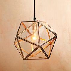 lynett perez: Lighting - faceted glass pendant lamp | west elm - West Elm pendant