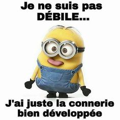 Je ne suis pas débile - ALL Pin Minion Humour, Minion 2, Minion Jokes, Minions Quotes, Funny Minion, Disney Quotes, Good Mood, Pranks, Funny Jokes