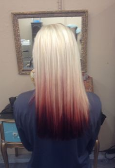 Reverse Ombre/Blonde to Red