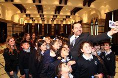 PM Saad Hariri meets a Delegation of students from Lycee International 2 visiting the grand serial. (Dalati & Nohra)