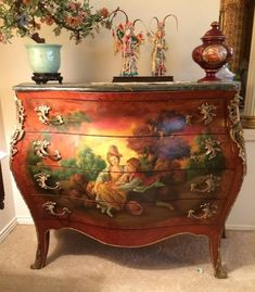 Due to Sudden Homeowner Circumstances, Saturday's. Hand Painted Furniture, Funky Furniture, Recycled Furniture, Refurbished Furniture, Paint Furniture, Unique Furniture, Shabby Chic Furniture, Furniture Makeover, Vintage Furniture