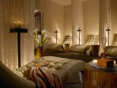 The relaxation room at The Spa at La Posada de Santa Fe Resort & Spa in Santa Fe, New Mexico.
