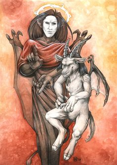 'Lucifer and Baphomet' by Nimrais.