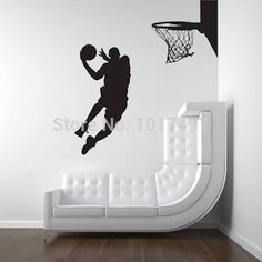Cool Michael Jordan Wall Stickers : Basketball Player Dunk Ball Michael  Jordan Vinylwallaccents Interior Creatives