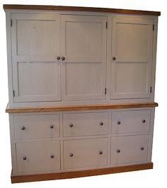 Painted Plank Pine Furniture Kitchen Larder Cupboard