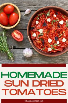 How to Make Sun Dried Tomatoes in the Oven or Dehydrator. This in oven easy recipe for sun dried tomatoes is so tasty and is a lot simpler than you might think. Healthy Dips, Healthy Meal Prep, Healthy Eating, Healthy Recipes, Make Sun Dried Tomatoes, How To Store Tomatoes, Homemade Seasonings, Savoury Dishes, Budget Meals