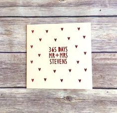 1st Anniversary Card 365 days Papercut by PrettyasaPictureGift