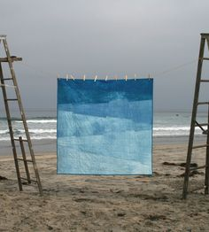 Hand-dyed Waves Quilt by First Shelter on Scoutmob Shoppe