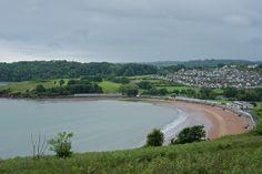 Broadsands beach from the South West Coastal path, Broadsands, Devon.