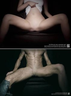 French HIV/AIDS: genitalia erased to make the point that these are the only people who should not be concerned about HIV infection. International Day, Public Health, Acting, Campaign, Ads, Hiv Aids, Celebrities, People, Medicine