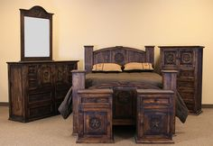 Superbe Mansion With Star Rustic Bedroom Set In Medio