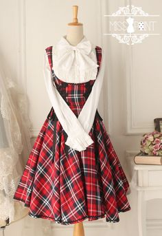 Newly Added: Miss Point ❤~Vintage Gingham~❤ Lolita Corset JSK > http://www.my-lolita-dress.com/miss-point-vintage-gingham-corset-lolita-jumper-dress-yuan-119 [Custom Tailor | Only $49.99]