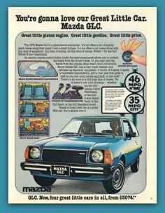1978 Mazda GLC car vintage magazine ad print by catchingcanaries