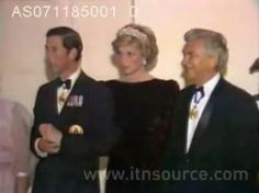 November 7, 1985:  Prince Charles and Princess Diana at a State Dinner at Government House in Adelaide, Australia.