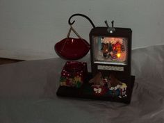 Retired Rare Yankee Candle CHRISTMAS MOUSE Watching TV W Hanging candle holder #YankeeCandle Yankee Candle Christmas, Tart Warmer, Twas The Night, The Night Before Christmas, Candle Holders, Lunch Box, Candles, Tv, Ebay