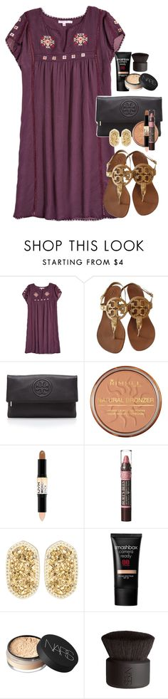 """It was so beautiful today! Tomorrow going to an exclusive backstage tour!"" by ambermillard ❤ liked on Polyvore featuring Calypso St. Barth, Tory Burch, Rimmel, NYX, Burt's Bees, Kendra Scott, Smashbox, NARS Cosmetics, women's clothing and women"