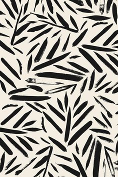 Not So Black and White Leaves by crystal_walen. Cream and black plant forms on fabric, wallpaper, and gift wrap. Beautiful abstract plants in an abstract painterly style.