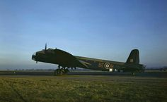 Stirling GT Mark IV, LK203 '8E-B'', of No. 295 Squadron RAF based at Harwell, Oxfordshire, taxying at Mount Farm, Oxfordshire, during a glider towing exercise.