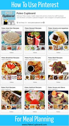 How to use Pinterest for #Paleo Meal Planning - www.PaleoCupboard.com