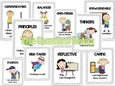 IB Learner Profile Attributes with Descriptions Posters {G