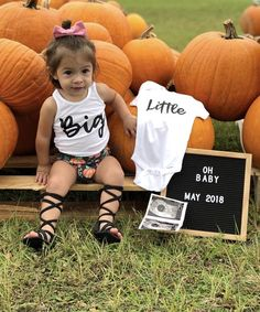 Ideas Baby Announcement Big Brother Little Sisters For 2019 October Pregnancy Announcement, Baby Number 2 Announcement, Second Baby Announcements, Halloween Pregnancy Announcement, Baby Announcement To Husband, Baby Announcement Pictures, Pregnancy Announcements, Big Brother Little Sister, Little Sisters