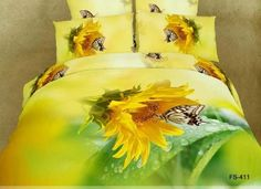 If you describe yourself as a non-traditional decorator, these sunflower bedding sets work. Brighten up a bedroom with a prominent Yellow Duvet Bedding Set. Luxury Duvet Covers, Bed Duvet Covers, Duvet Cover Sets, Luxury Bedding, Modern Bedding, Modern Beds, Cushion Covers, Queen Size Duvet Covers, Queen Duvet