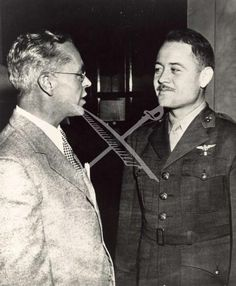 Rex Beisel and Major Gregory Pappy Boyington, Medal of Honor winner.