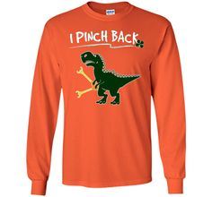 I Pinch Back Dinosaur Tshirt - Kids St Patricks Day Shirts