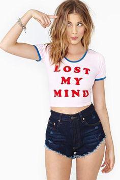 Lazy Oaf Mindfull Crop Top