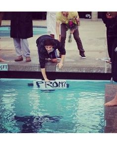 For those swimmers out there! One of the best ways to ask a swimmer to prom!!