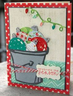 Love this fun idea! #Christmas #cards #paper_crafting