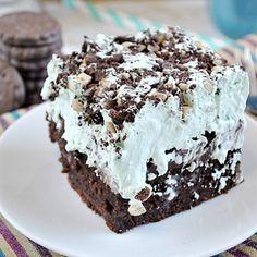 Better Than Thin Mints… Grasshopper Poke Cake