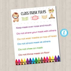 EDITABLE Class Mask Rules Poster Template Covid 19 School | Etsy School Newsletter Template, List Template, Templates, Teacher Forms, School Teacher, School Counselor, Welcome Back To School, Back To School Gifts, School Signage