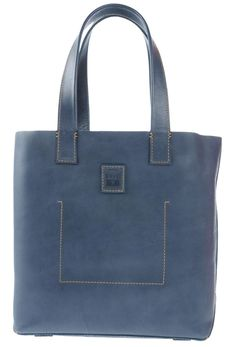 Frye New Stitch Slate Blue Tote Bag. Get one of the hottest styles of the… Grey Tote Bags, Designer Handbags On Sale, Vintage Bags, Distressed Leather, Bag Sale, Slate, Dust Bag, Satchel, Pouch